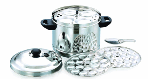Premium Stainless Steel 6 – Plates Idly Cooker