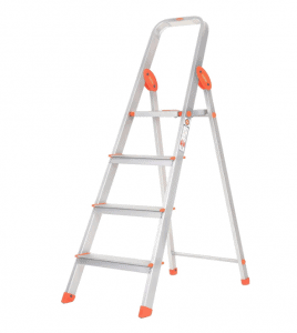 Bathla Ultra-Stable 4-Step Foldable Aluminium Ladder