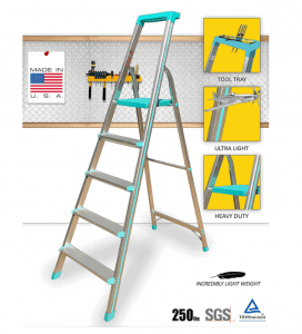 Euro Pro Household Aluminium Step Ladder