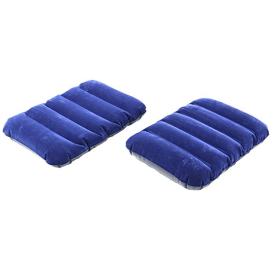 Buyerzone Travel Air Inflatable Velvet Pillow
