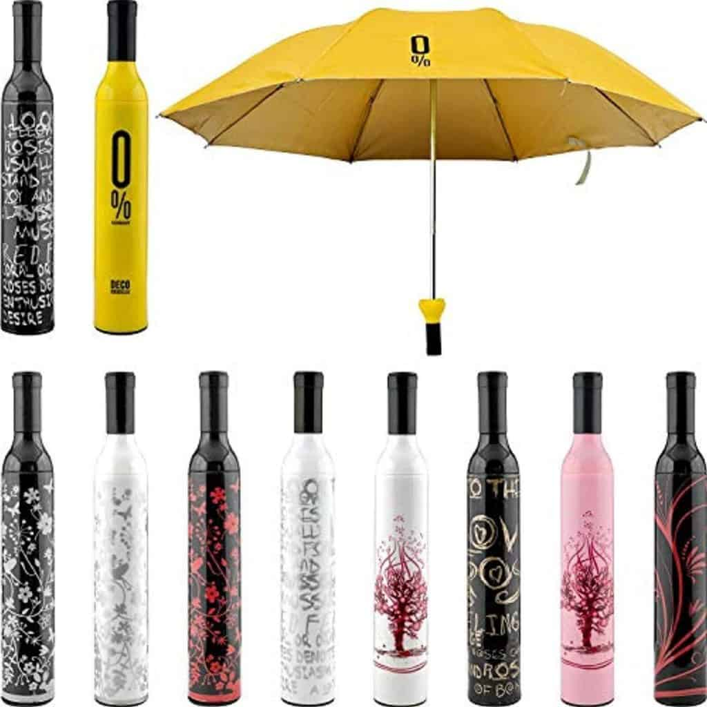 ESS EMM® Newest Windproof Double Layer Umbrella with Bottle Cover Umbrella