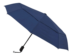 Amazon Brand - Solimo Umbrella with Wind Vent (Auto-Open & Close Function) - Blue