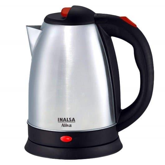 Inalsa Aliva 1500-Watt Electric Kettle in 1.5-Litre (Black/Silver)