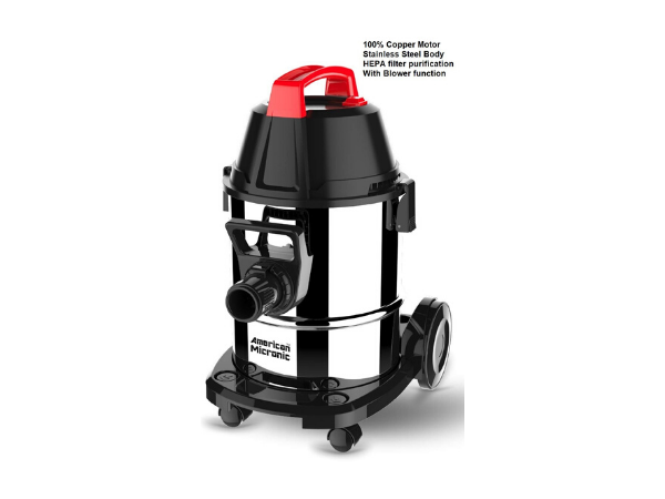American MICRONIC AMI-VCD21-1600WDx- 21 Litre Stainless Steel Wet & Dry Vacuum Cleaner with Blower